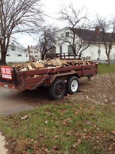 Trailer load of wood