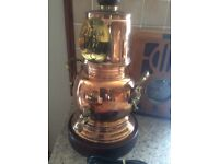 New unused vintage copper & brass hot water drink kettle /urn