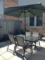 Full Patio Table Set for Four