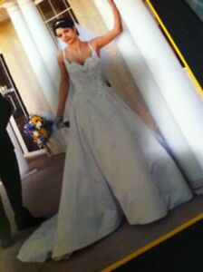 WEDDING DRESS, VEIL, HEAD PIECE, GARTER $275 OBO
