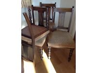 4 x Edwardian Style Antique Chairs