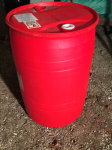 55 Gallon Drum Red 200 Litre Barrel