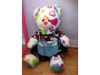 Rainbow love heart bear