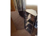 Stainless steel corner mirror cabinet