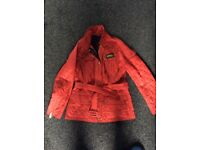 Red Barbour ladies jacket size 10.