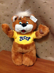 "BEAR ZEDDY COLLECTABLE 15"" STUFFED FROM CLOSED ZELLERS STORE"
