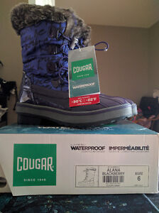 Girls Size 6 (Youth) Cougar Waterproof Winter Boots, New in Box London Ontario image 6