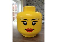 Large girl Lego storage head