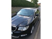 Black 2010 Skoda Superb