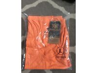 Brand new men's orange vest