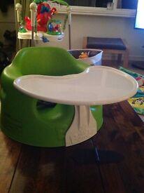 Green babies bumbo seat