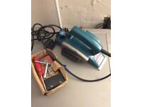 Makita electric planer good condition plus spare blade and tools