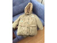 Girls parka age 3-4 years
