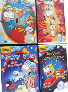 4 Toopy and Binoo DVDs