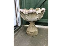 Tall decorative Stone Garden Planter