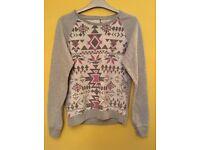 Aztec print jumper