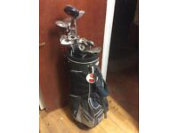Quality set of clubs with folding trolley