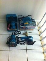 Makita Power Planer, Makita Router & 2 Makita Sanders