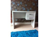White desk with draws