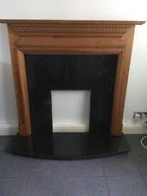 Antique Pine Adam Style Fireplace