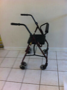 Rollator Mobility Walker with Seat and Backrest, Folds