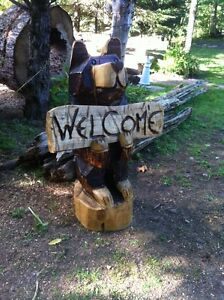 TRADE YOUR 4X4 ATV FOR MY CHAINSAW CARVINGS! Peterborough Peterborough Area image 2