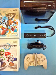 Nintendo Wii with lots of games