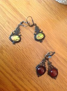 Hand crafted antique style earrings