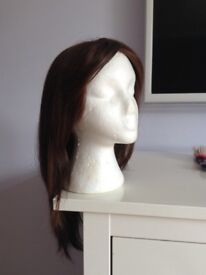 Ladies wig - dark brown, long straight length, worn only 3 times! Looks as NEW