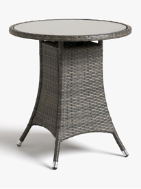 John Lewis & Partners Alora Garden Bistro Table, Brown/Grey