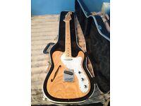 SX Telecaster Guitar Custom Made American Ashwood c/w Groover Keys & Flight Case