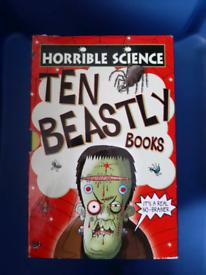 Horrible Science books box set x10 books