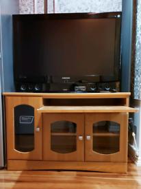 Custom made Vintage cabinet, Samsung HD TV, Samsung Soundbar+Subwoofer