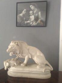 Antique gothic lion statue
