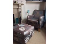 M&S Armchair and Footstool