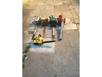 Petrol hegcutters blower and a chainsaw for Spares or repairs