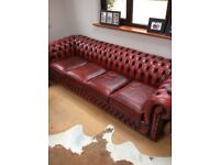 Rare 4 seater chesterfield ox blood