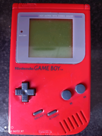 Gameboy dmg-01 red play it loud
