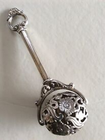 Top quality 19c silver plated babies rattle (excellent condition) £50