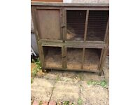 Large rabbit hutch, run, indoor cage and small pet carrier