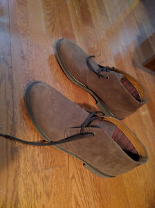 NEW IN BOX - Clark's Brown Suede Leather Boots (Paid $120) London Ontario image 1