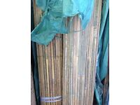 Bamboo slat screening 4m long rolls x 2m high