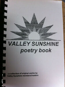 Book of original poems by local authors; gift idea