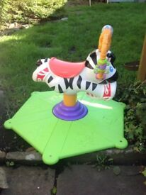 Fisher Price Interactive Bounce and Spin Zebr