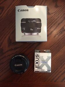 Canon 50mm lens (f/1.4) with filter