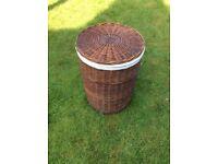 Wicker Laundry Basket - round