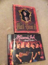Kat Von D & Miami ink tattoo books.