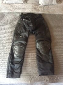 Richa leather and textile motorcycle motorbike trousers
