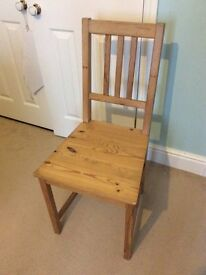 Light solid wood dining chair