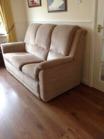 G Plan sofa chair and footstool. VGC.